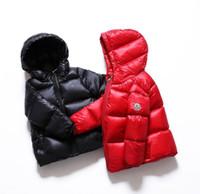 filles chaudes vêtements de cérémonie achat en gros de-Vente chaude hiver marque 100% canard vers le bas garçons vêtements vers le bas veste pour les filles vêtements enfants vêtements vêtements 3 t-12 t