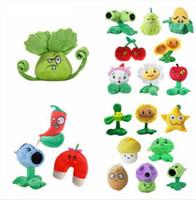 ingrosso bambole giocattolo zombie-13-25 cm Plants vs Zombies Peluche Giocattoli morbidi di peluche ripiene Doll Toy Baby per bambini Regali Giocattoli per feste Regali di compleanno 14 design KKA5922