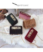 Wholesale wholesale small metal letter - Casual Fashion Wild Female Bag Metal High-end Small Square Velvet Letter Color Chain Shoulder Diagonal Package