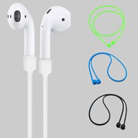 Wholesale Iphone Accessories Headphones - Anti Lost Strap For Apple Airpods Loop String Rope Silicone Earphones Cable Headphone Accessories Air Pods Cord For iphone 7 8