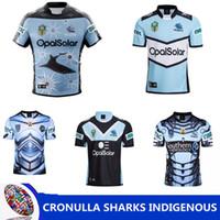 Wholesale blue shark size - CRONULLA SHARKS 2018 INDIGENOUS JERSEY CRONULLA SHARKS 2018 HOME JERSEY CRONULLA SHARKS 2018 ALTERNATE rugby JERSEY shirts SIZE S-3XL