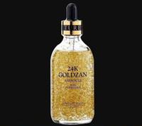 kırışıklık yağı toptan satış-Cilt 24 K Goldzan Ampul 100 ML 99.9% Saf Altın Cilt Artırılması Uçucu Yağ Tüm Ciltler Için Serum Nemlendirici Anti-Kırışıklık Ücretsiz DHL Gemi