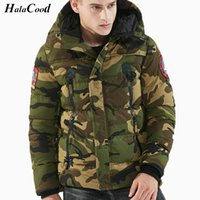 армия зеленые парки оптовых-Hot Sell Army Green Parka  Winter Jackets Men Warm Thicken Coat Top Quality Famous Cotton-Padded Fashion Camouflage Parkas