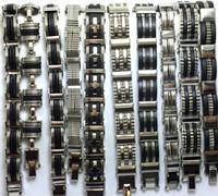 ingrosso braccialetti mescolano inossidabili-10X Top design Misto Moda uomo Moda bracciali in acciaio inossidabile braccialetti polsini caldi polsino all'ingrosso gioielli freschi lotti