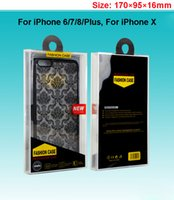 Wholesale Wholesale Electronics Cell Phones - Crystal Retail Plastic Packaging Package Packing Box For Cell Phone Leather Wallet Case Back Cover Samsung S7 S6 Note8 iPhone 6 7 8 Plus X