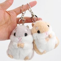 Wholesale kawaii stuffed animals for sale - Baby Kids Kawaii Cute Soft Plush Cartoon Animal White Khaki Small Hamster Toy Doll Key Chain Stuffed Mouse Toy