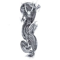 drachen tattoos aufkleber großhandel-China Dragon Wasserdicht Temporäre Tattoos Männer Voller Arm Flash Tattoo Kunst körper Harajuku Tattoo Aufkleber gefälschte tattoo ärmel