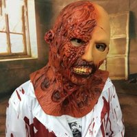 máscara de vampiro de látex venda por atacado-Máscaras assustadoras Halloween Horror Diabo Latex Santo bb Corpse Zombie vampiro Haunted House Cosplay Adulto Props Secret Chamber Máscara 35ml