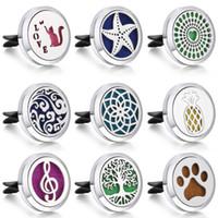 ev temizleyici toptan satış-1pcs ile Araba Oda Parfümü Parfüm Şişesi Locket Clip için Aromaterapi Ev Esansiyel Yağı Yayıcı Yıkanabilir Pedler Difüzör madalyon Keçe