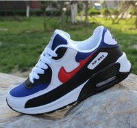 Wholesale Blue Sky Points - 2017 new Mens Sneakers Shoes classic 90 Men and women casual shoes Black Red White Breathable Sports Shoes