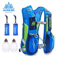 mochila de chaleco al por mayor-AONIJIE Running Marathon Hydration Nylon 5.5L Bolsas para correr al aire libre Senderismo Mochila Chaleco Marathon Ciclismo Mochila