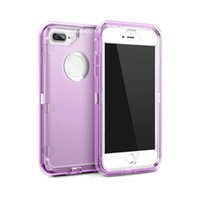 Wholesale defender case iphone 6s plus online - 3 in Clear Robot Transparent Defender Cases For iPhone X Plus Samsung S8 S9 Plus Note