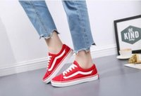 vs dantel toptan satış-Yeni moda ilkbahar ve sonbahar erkekler ve kadınlar kanvas ayakkabılar Dantel-up Rahat Ayakkabılar vs daireler