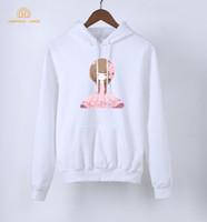 Wholesale Tracksuit Fleece Girls - Pink Girl Kawaii Sweatshirts Women's Hoodies 2018 Spring Autumn Kawaii Warm Fleece Tracksuit Women Harajuku Hoody Brand Clothing