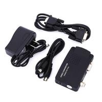 prise vidéo pc achat en gros de-US / EU Plug TV BNC Composite S-vidéo AV VGA In vers PC VGA LCD Out Convertisseur Adaptateur Box Vidéo Médicale