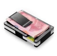 Wholesale black metal jacket - Mens Wallet Credit Card Set Business Luxury Alloy Wallet Card Set Cash Jacket Metal Card Holder