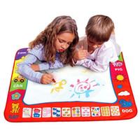 волшебные каракули оптовых-Детские игрушки для рисования Aqua Doodle Mat Magic Pen Обучающие игрушки 1 Mat + 2 Water Pen Pen