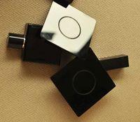 quadratische bierdeckel großhandel-nagelneues 4pcs schwarzes Acrylschalenuntersetzer C Logo schwarzes Quadrat Schalenmatten-Wärmeisolierungs-Tischset