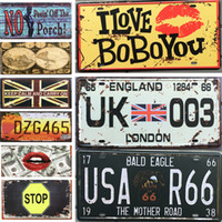 Wholesale metal sign printing - Retro Metal Painting Poster Tin Sign Printing Metal Art Tin Posters For Bar Cafe Hotel Wall Decor Iron Painting Creative