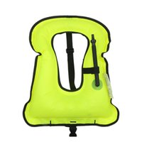 Wholesale child inflatable life vest - Inflatable Life Jacket Life Vest For Children & Adult Foldable Aquatic Sports Swimming Diving Surfing Fishing Parent-Child Suit