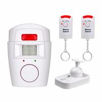 mp sensor venda por atacado-Home Security PIR MP Alerta Sensor Infravermelho Detector De Movimento Anti-roubo Alarme Monitor de Sistema de Alarme Sem Fio + 2 controle remoto