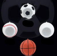 Wholesale usb golf - Creative gift wireless mini Bluetooth speaker spherical football basketball baseball golf small stereo outdoor sports player