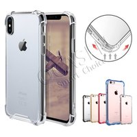 Wholesale iphone pc hard case online - Transparent Shockproof Acrylic Hybrid Armor Bumper Soft TPU Frame PC Hard Case Cover for iPhone XR XS MAX Samsung S9 Note9