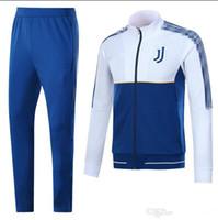 Wholesale men italian pants - HOT sale Italian national team JACKET KIT 2017 2018 ITALY INTER jacket WITH PANTS BONUCCI DYBALA 17 18 AC milan jacket FULL SET SweatWEAR