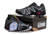 Wholesale country cycle - Salomon Speed cross 3 CS III Deep Grey Silver Crosspeed 3 Men country raining Outdoor Running shoes sneakers