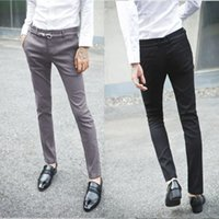 Wholesale Man Western Style Suits - Summer male western-style trousers slim thin business casual suit pants easy care suit pants formal