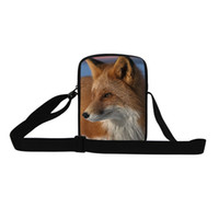 Wholesale bag fox men for sale - Group buy Hot Sale Fox Messenger Bags For Men Women Animals D Print Cross Body Bags Mujer Casual Small Sling Bags Youth Shoulder Bag