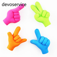 Wholesale rubber pencils for sale - 5PCS Novelty Gestures Kawaii Children Cute Pencil Erasers Rubber Eraser For Kids Prize Gifts School Supplies Stationery