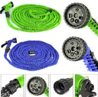 Wholesale Expandable 75ft - Garden Hose Expandable Magic Flexible Water Hose With Spray Nozzle Head Expandable Flexible Water Garden Hose 25FT 50FT 75FT 100FT KKA3881