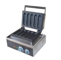 Wholesale Waffle Hot Dog Machine - 110v 220v 5 PCS hot dog waffle machine hot dog oven hog dog maker Lolly wffle maker