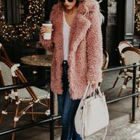 moda kadınlar kışlık montlar toptan satış-Faux Kürk Kış Kadın Sonbahar Ve Kış Yeni İmitasyon Kürk Ceket kadın T Moda
