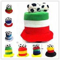 fãs de bonés de bola venda por atacado-fãs da bola da Copa do Mundo footabll chapéu de futebol DHL top chapéus do partido bandeira nacional cap Plush cy