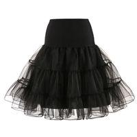 organza petticoat underskirt toptan satış-Eslieb Kısa Organze Petticoat Kabarık Etek Düğün için Vintage Düğün Gelin Petticoat Elbise Jüpon Rockabilly