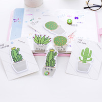 Wholesale decoration books for sale - Group buy Cute Cactus Memo Pad Sticky Note Sticker Memo Book Note Paper N Stickers Stationery Office Accessories School Supplies