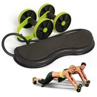 Wholesale fitness equipment sales for sale - Household Double Ab Rollers Mute Waist Slimming Pull Rope Abdominal Wheel High Elasticity Fitness Exercise Equipment Hot Sale hd B