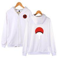 Wholesale naruto coat jacket for sale - Naruto Hoodies Sweatshirt Uchiha Syaringan Hooded Boys Fashion Zipper Hoodie Hokage Ninjia Classic Anime Jacket Coat Clothes