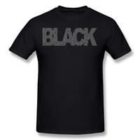 en iyi siyah inciler toptan satış-En iyi Satış Hombre Pamuk Kumaş Inci Reçel Siyah Tee Gömlek Hombre O-Boyun Karbon Kısa Kollu T-Shirt Camiseta Artı Boyutu Rahat Tee Gömlek