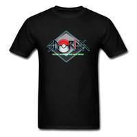 rabatt menssommerhemden großhandel-2018 Männer besitzen 3D Logo T Shirt Pocket Monster Nizza Sprites Schwarz T Shirt Coole Sommer Anime Designer Großhandel Rabatt Mens T-Shirts