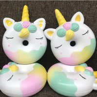 Wholesale Eco Friendly Wood - Squishy Scented Unicorn Donut Slow Rising Soft Squeeze Stuffed Kids Toys Horse Squeeze Jumbo Stress Reliever KKA5035