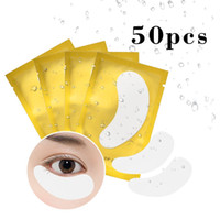 Wholesale black c patch resale online - Can Mix Pack Eye Pads for Eyelash Extension Grafted Eye Patches Hydrogels Nonwoven Eyelash Paper Isolation Pad Make Up Tools