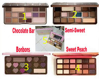 Wholesale multi plates - Factory Direct DHL Makeup Chocolate Bar Eyeshadow semi-sweet Sweet Peach Bon Bons Palette 16 Color white chocolate bar Eye Shadow plates
