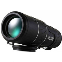 Wholesale focus optics - Black Dual Focus 50x52 Zoom Monocular Telescope Optic Lens Travel Spotting Scope HD Monoculars telescopes Outdoor Device