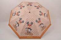 guarda-chuva para impressão venda por atacado-Camélia Designer de Luxo Guarda-chuvas Urso Impresso Guarda-chuva Guarda-chuva Dobrável À Prova de Vento Portátil Curto Lidar Com Umbrella para o Sol