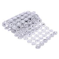 ingrosso decorazioni di festa di bling-1 Yard 6 Roll con strass DIY Decorazione di cerimonia nuziale Bling Diamond Mesh Rolls Mesh Festival Rifornimenti del partito