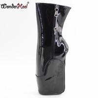 ingrosso stivali neri sexy di brevetto-Scarpette da balletto corto Wonderheel 7