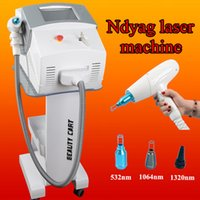 Wholesale Nd Yag Laser Equipment - Professional tattoo removal machine q-switch nd yag laser black doll with 5,000,000 Shots used spa equipment
